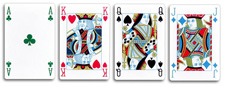 ���������������� ������ ����� 4 color play�ng cards