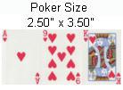 покерные игральные карты или карты покерного размера poker size