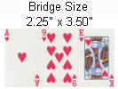 игральные карты стандартного размера или бридж размера bridge size