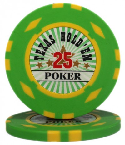 "Фишка ""Texas HoldEm Poker"" номинал 25"