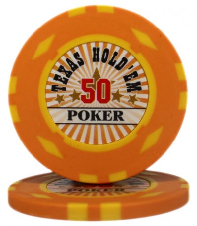 "Фишка ""Texas HoldEm Poker"" номинал 50"