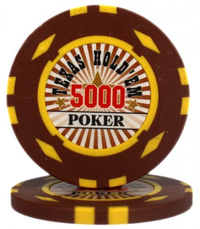 "Фішка ""Texas HoldEm Poker"" номінал 5000"