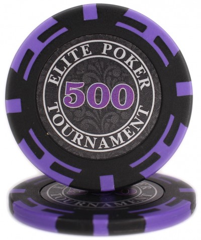 "Фишки ""Elite Poker Tournament"" с цифрой 500"